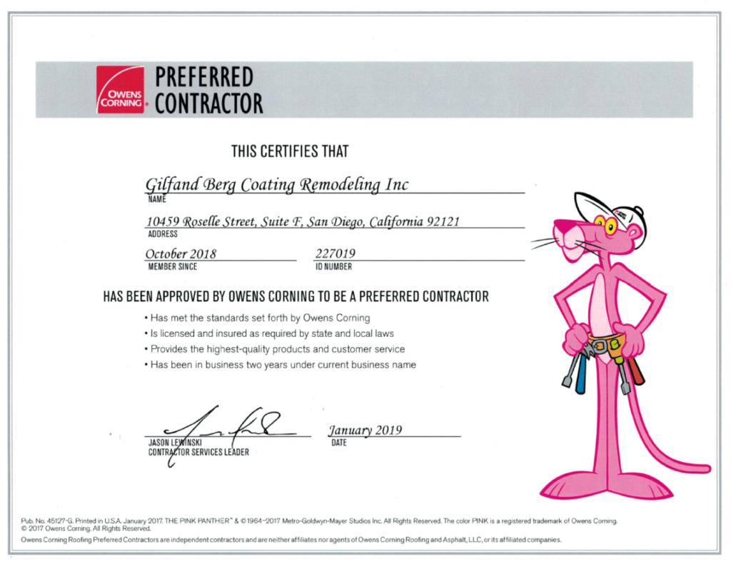Licenses | Licensed Professionals | GBC Modeling Inc.
