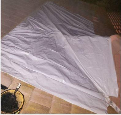tarping roof