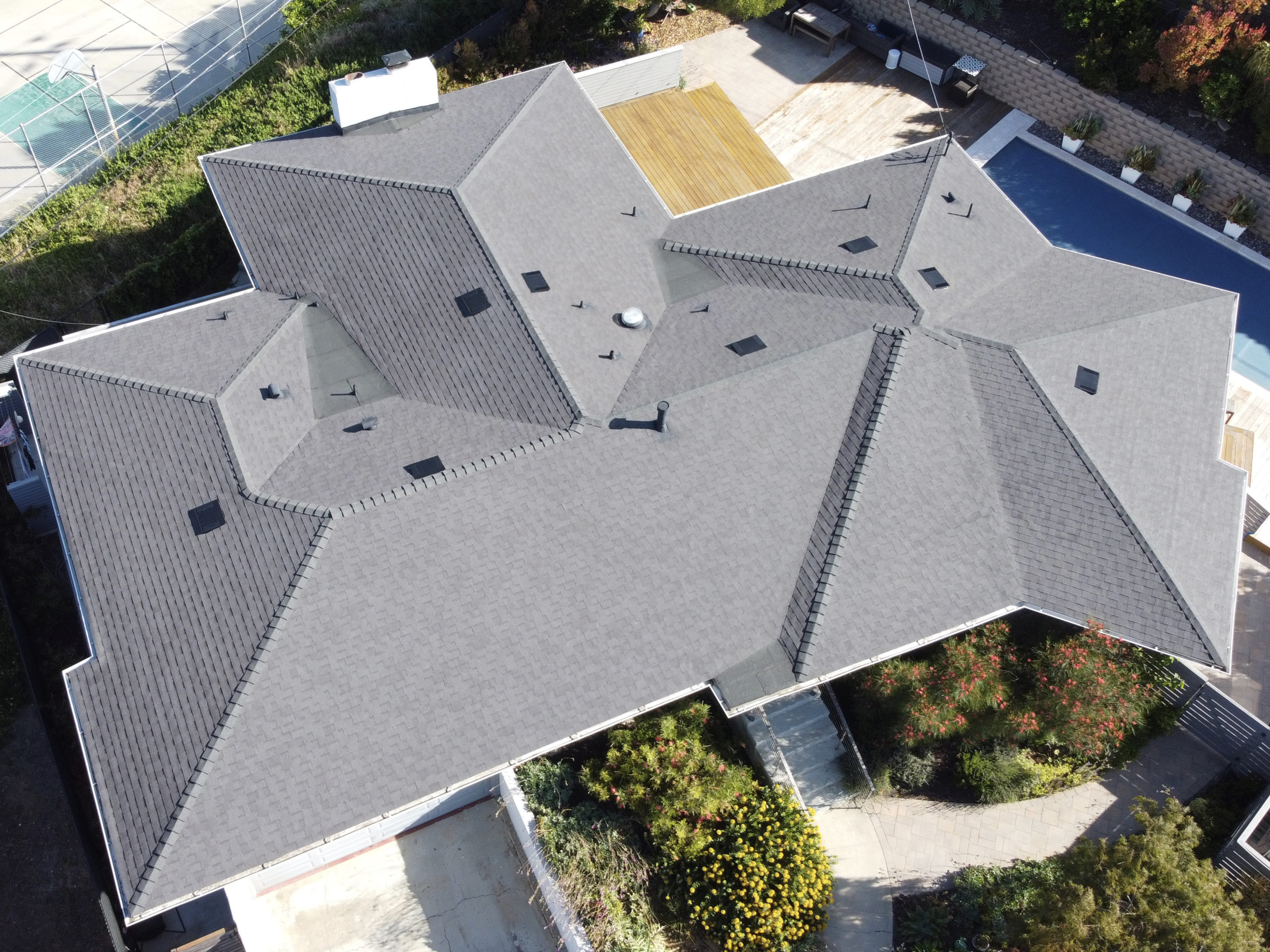 shingles above view