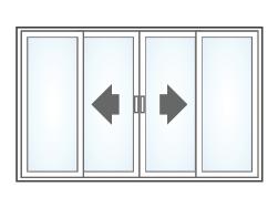 OXXO Fixed / Sliding / Sliding / Fixed