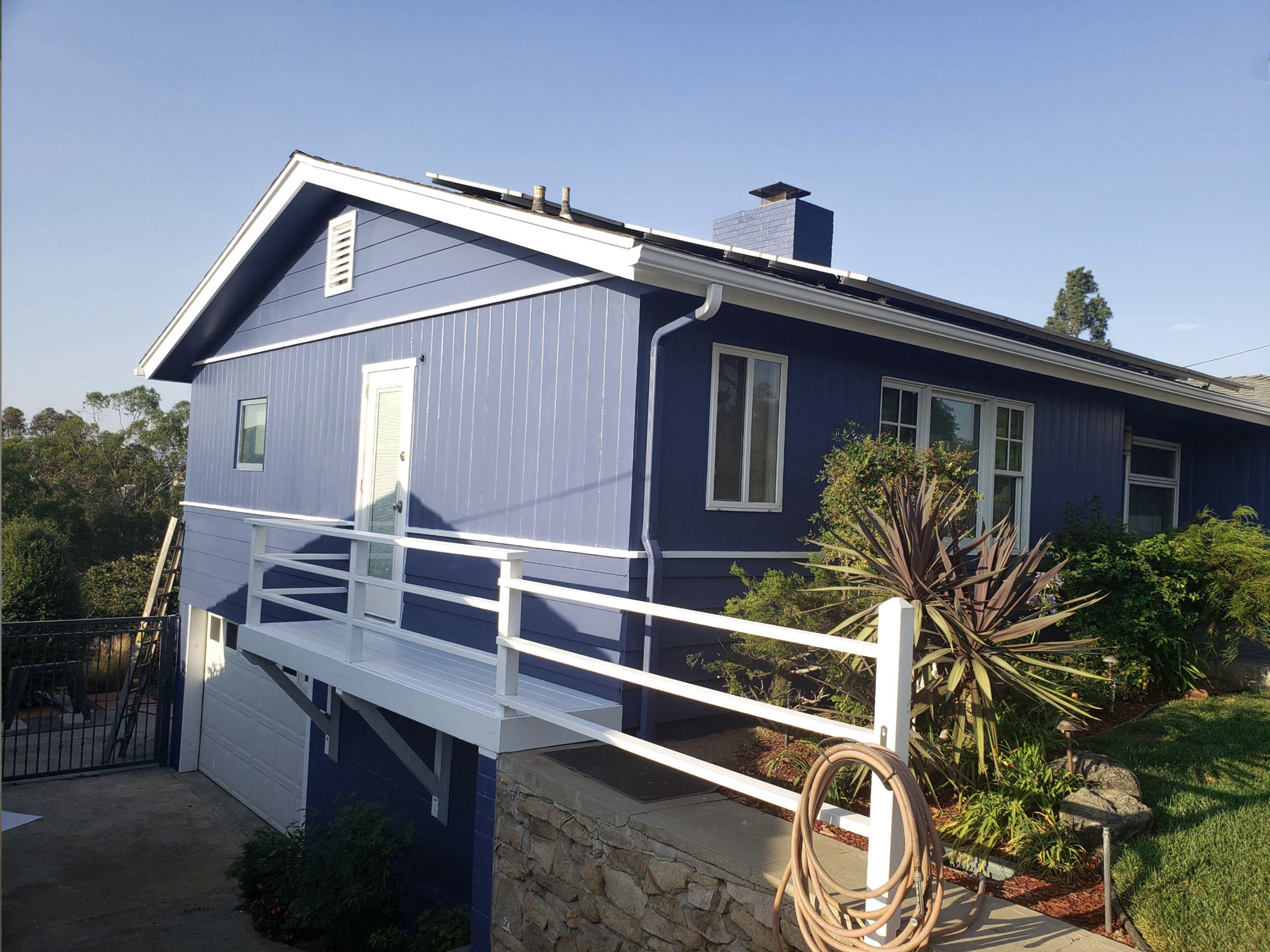 Blue exterior Coating