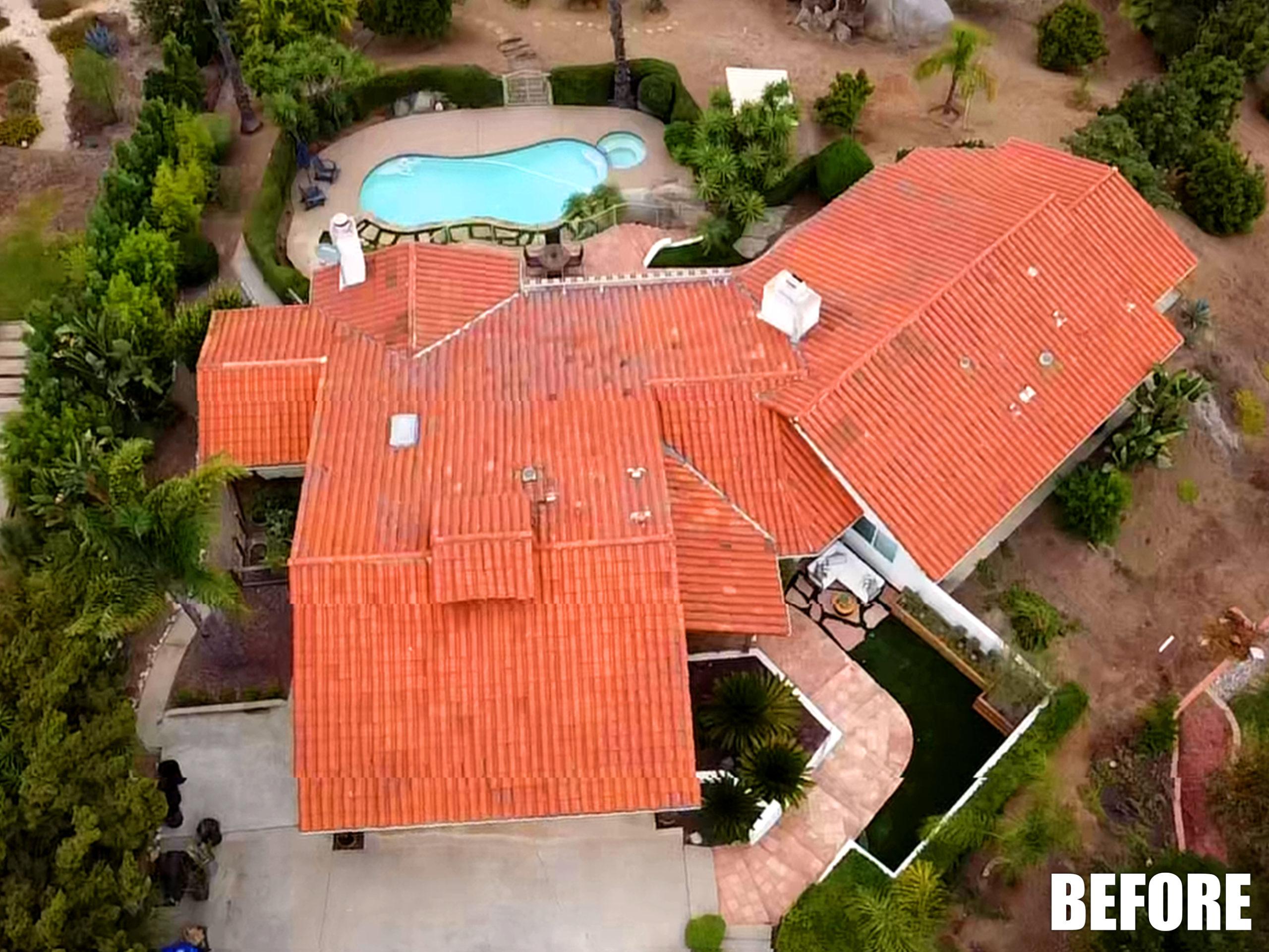 red tile roof original