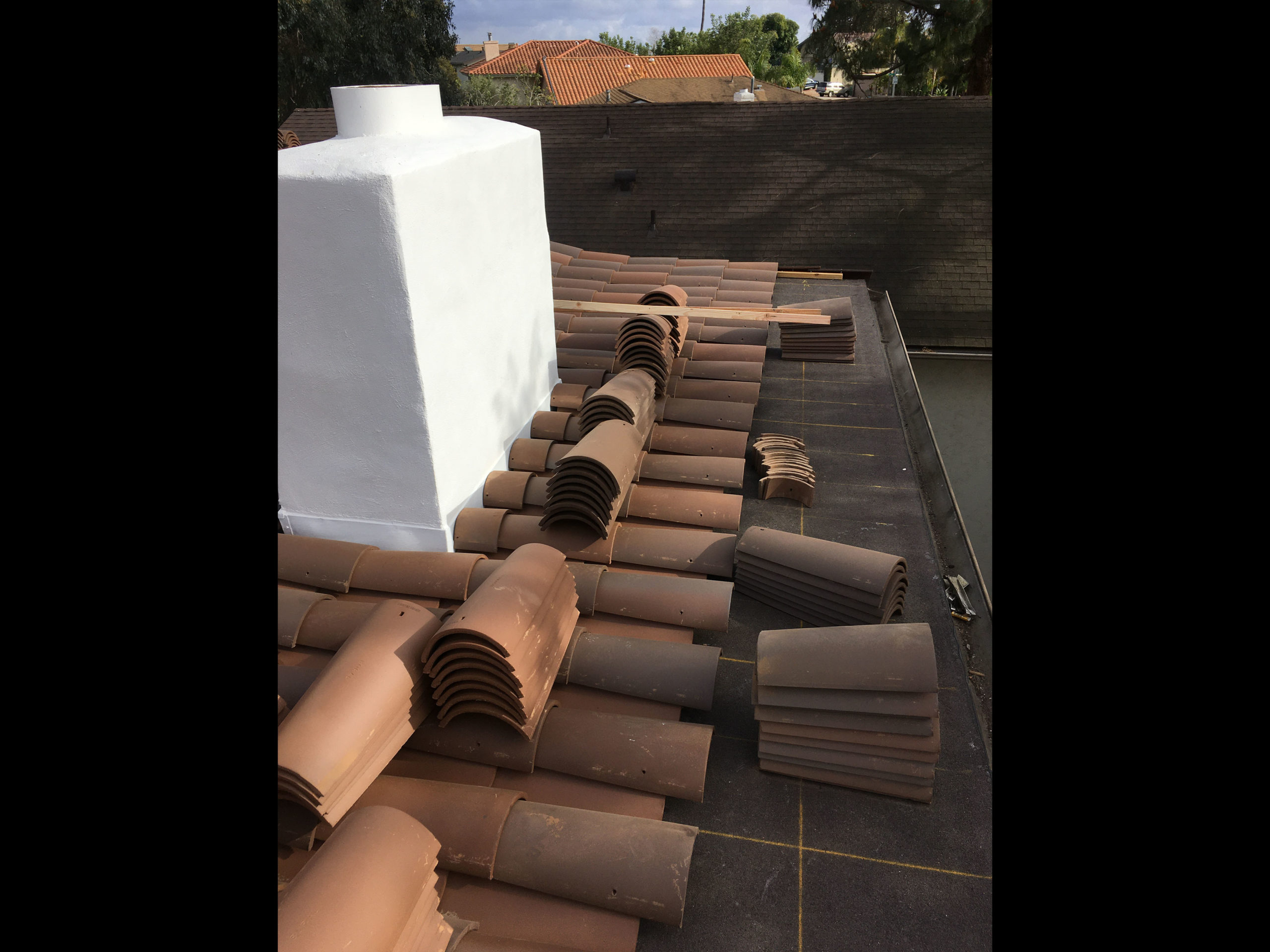 roofing around chimney
